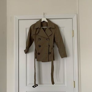 H&M Brown Trench Coat Size:4.